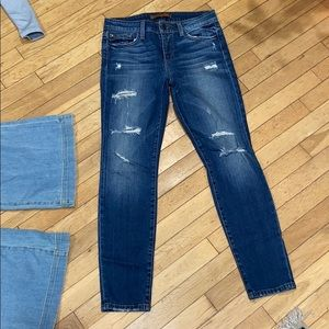 Joe Jeans distressed skinny ankle denim pants bott